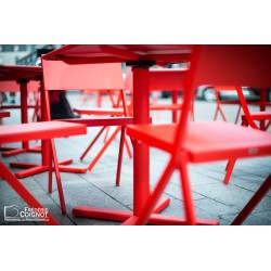 Chaises rouges - Digigraphie